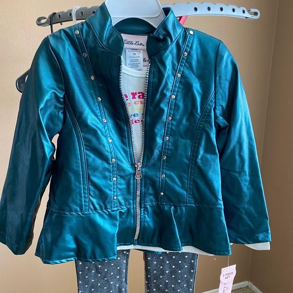 Girls 3pc jacket, top & leggings